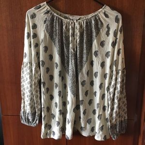 *NEW* Lucky Brand Printed Peasant Top (Small)